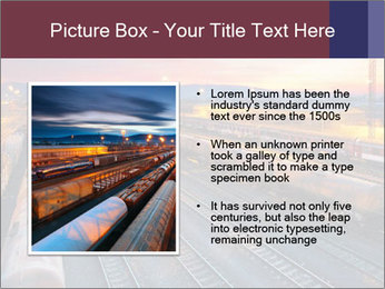 Station at dusk PowerPoint Template - Slide 13