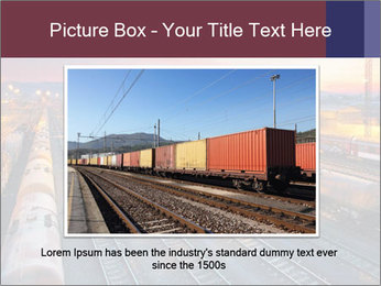 Station at dusk PowerPoint Template - Slide 15