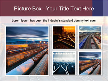 Station at dusk PowerPoint Template - Slide 19