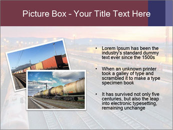 Station at dusk PowerPoint Template - Slide 20