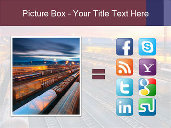 Station at dusk PowerPoint Template - Slide 21
