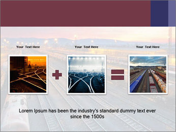 Station at dusk PowerPoint Template - Slide 22
