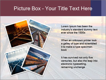 Station at dusk PowerPoint Template - Slide 23