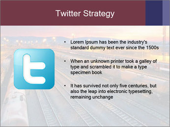 Station at dusk PowerPoint Template - Slide 9