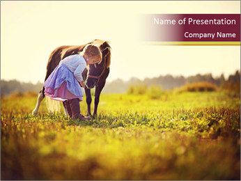 A cute girl in jockey boots PowerPoint Template - Slide 1