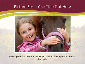 A cute girl in jockey boots PowerPoint Template - Slide 15