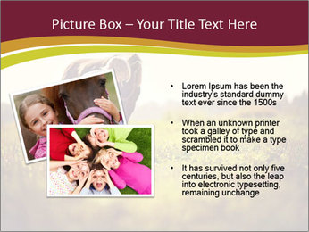 A cute girl in jockey boots PowerPoint Template - Slide 20