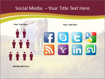 A cute girl in jockey boots PowerPoint Template - Slide 5