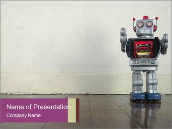 Retro robot PowerPoint Templates - Slide 1