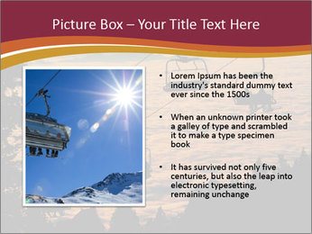 Ski lift chairs PowerPoint Templates - Slide 13