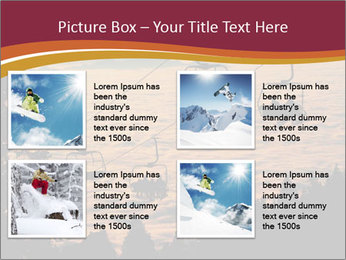Ski lift chairs PowerPoint Templates - Slide 14