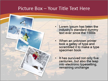 Ski lift chairs PowerPoint Templates - Slide 17