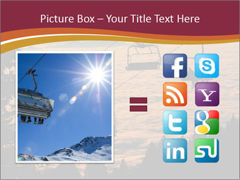 Ski lift chairs PowerPoint Templates - Slide 21