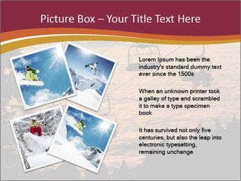 Ski lift chairs PowerPoint Templates - Slide 23