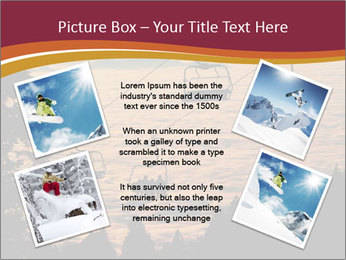 Ski lift chairs PowerPoint Templates - Slide 24