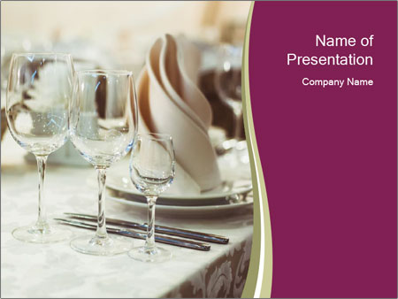 Restaurant serving PowerPoint Template