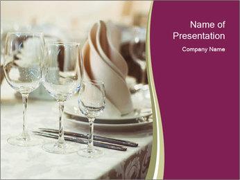 Restaurant serving PowerPoint Template - Slide 1
