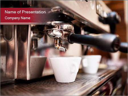 Espresso machine PowerPoint Templates