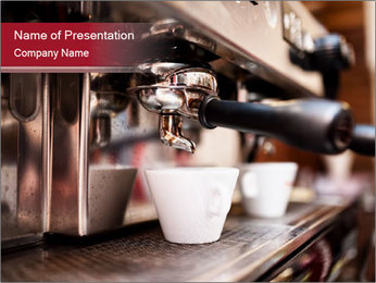 Espresso machine PowerPoint Templates - Slide 1