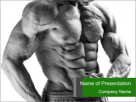 Strong young guy PowerPoint Template