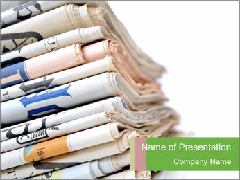 Newspapers PowerPoint Template - Slide 1