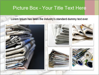 Newspapers PowerPoint Templates - Slide 19
