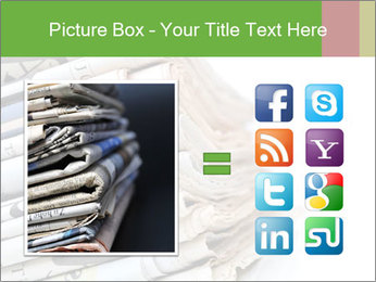 Newspapers PowerPoint Template - Slide 21