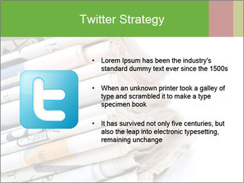 Newspapers PowerPoint Template - Slide 9