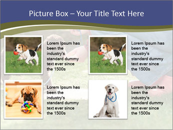 Puppy in the garden PowerPoint Template - Slide 14