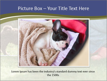 Puppy in the garden PowerPoint Template - Slide 16