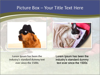 Puppy in the garden PowerPoint Template - Slide 18