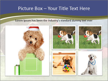 Puppy in the garden PowerPoint Template - Slide 19