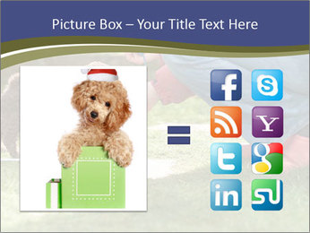 Puppy in the garden PowerPoint Template - Slide 21