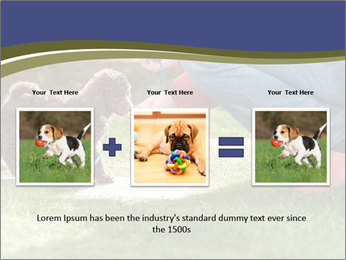 Puppy in the garden PowerPoint Template - Slide 22