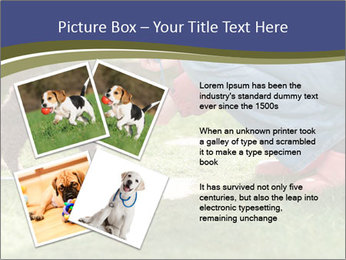 Puppy in the garden PowerPoint Template - Slide 23