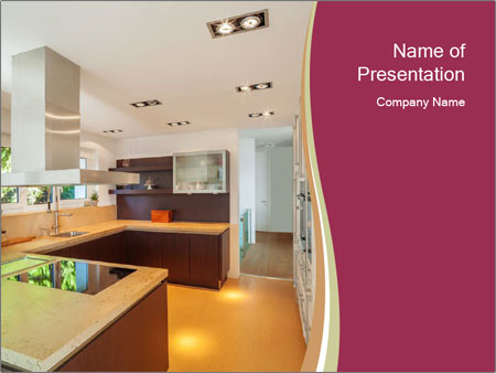 Modern kitchen PowerPoint Templates