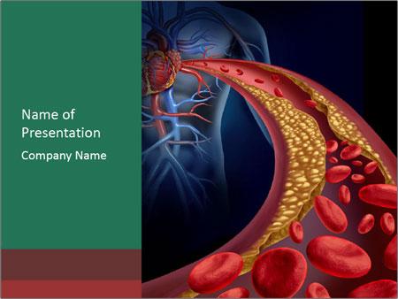 Human artery PowerPoint Template
