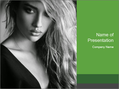 Woman posing PowerPoint Template