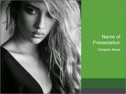 Woman posing PowerPoint Templates