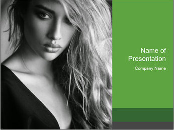 Woman posing PowerPoint Template - Slide 1