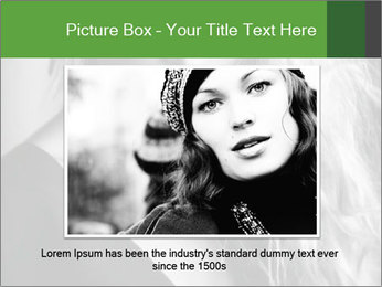 Woman posing PowerPoint Template - Slide 15
