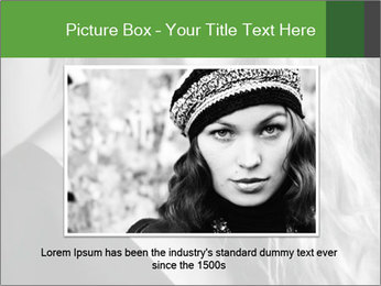 Woman posing PowerPoint Template - Slide 16