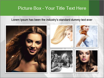 Woman posing PowerPoint Template - Slide 19