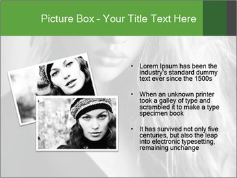 Woman posing PowerPoint Template - Slide 20
