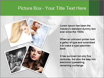 Woman posing PowerPoint Template - Slide 23