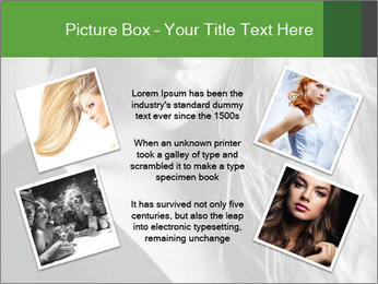 Woman posing PowerPoint Template - Slide 24
