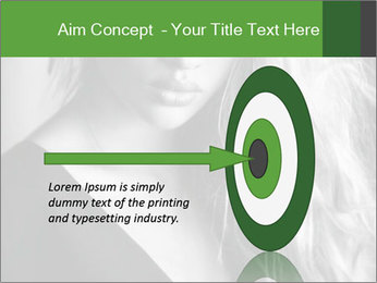 Woman posing PowerPoint Template - Slide 83