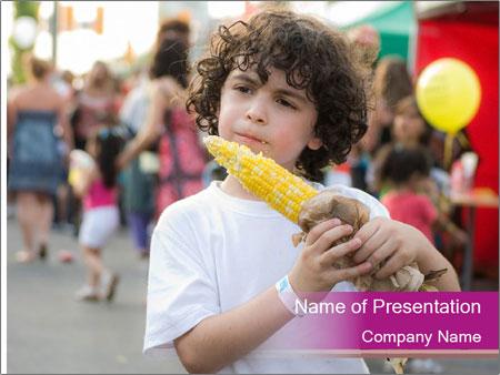 Hispanic child PowerPoint Template