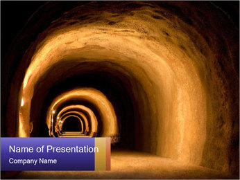 Tunnel PowerPoint Templates - Slide 1