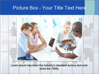 Silhouettes of business PowerPoint Template - Slide 16